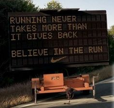 Running Never Takes More Than It Gives Back