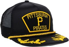 pittsburgh pirates new era trucker hat  | New Era Pittsburgh Pirates Mlb 9fifty Snapback Cap in Black for Men ...