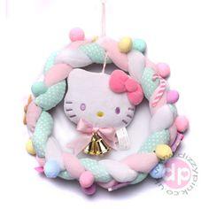 Hello Kitty Christmas Tree, Christmas Tree Ornaments, Xmas, Pretty Cats, Mesh Wreaths, Plush, Kawaii, Daughters, Paradise