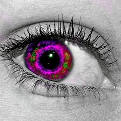 Beautiful Purple/Green Eye!