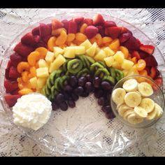 My fruit rainbow creation