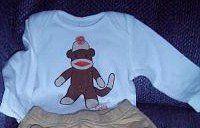 Sock Monkey Baby Bodysuit $16.00 #thecraftstar