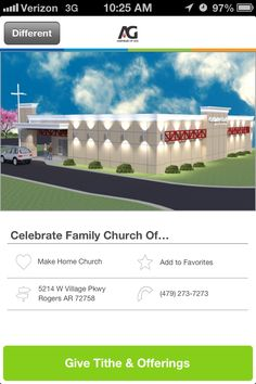 Celebrate Family Church of Northwest Arkansas in Rogers, AR #GivelifyChurches