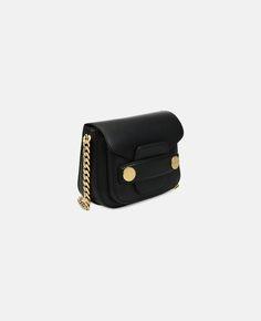 Black Stella Popper Shoulder Bag - Stella Mccartney  871fc36a1f52d