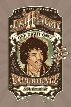 Jimi Hendrix One Night Only Poster