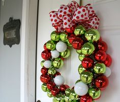 Make this pretty Christmas wreath ~ easy! ~ on today's blog www.RetroRevivalBiz.blogspot.com