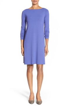 Eileen Fisher Bateau Neck Jersey Dress (Regular & Petite) available at #Nordstrom