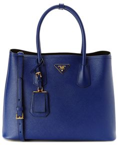 Prada Saffiano Cuir Leather Double Tote is on Rue. Shop it now.