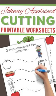 These Johnny Appleseed Cutting Practice Sheets are perfect for a Johnny Appleseed theme! You can even use these as a fun way to celebrate Johnny Appleseed Day. #preschoolworksheets #cuttingpractice #finemotorskills #3boysandadog Kindergarten First Day, Kindergarten Teachers, Teaching Kids, Apple Activities, Science Activities, Pre Writing, Writing Skills, Preschool Worksheets, Printable Worksheets