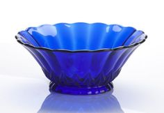 10 Cobalt Blue Glass Centerpiece Serving Bowl Nicole Pattern * See this great product.