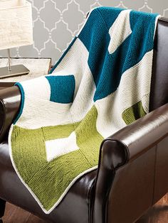 Mod Baby Afghan by Cheryl Murray, knit in Vintage, Creative Knitting Magazine All Season Throws