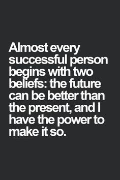 You to the power to make your future successful.