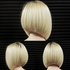 Credit to Perfect bob…. To have your hair featured please tag Pretty Hairstyles, Bob Hairstyles, Medium Hair Styles, Short Hair Styles, Langer Bob, Short Bob Haircuts, Great Hair, Hair Day, Hair Designs