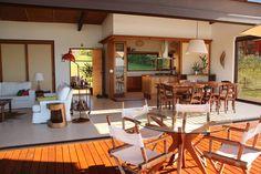 PROJETO CASA DA REPRESA: Salas de jantar Campestre por Ambienta Arquitetura