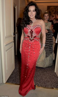 Dazzling: Nancy Dell'Olio turned heads when she stepped out for the 10th anniversary of th...