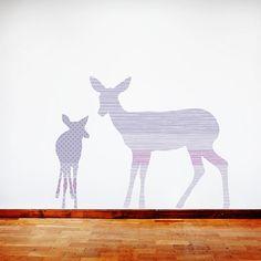 Deer Wall Decals  Deer Fabric Wall Decals Purple by ecowalldecals, $89.50