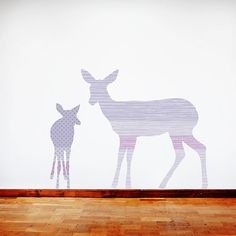 Deer Wall Decals  Deer Fabric Wall Decals Purple by ecowalldecals, $89.50