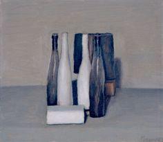 Giorgio Morandi, Natura morta, 1957 Oil on canvas Italian Painters, Italian Artist, Simple Subject, Vevey, Great Works Of Art, Painting Still Life, Art Moderne, Art Graphique, Contemporary Paintings