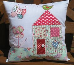 Easy Sewing Kit Applique House cushion ideal beginner all inc fabric wadding tem