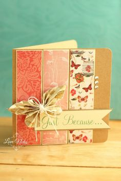 nice layout ~ inspiration for coordinating cardstock