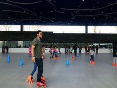 roller skating at lakeside in prospect park