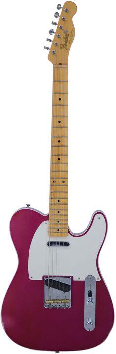 Fender Custom Shop 1950s Custom Telecaster Relic Binding Purple Metallic