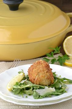 Chicken Milanese Meatballs with Lemon Butter Sauce  OMG this looks ridiculous!