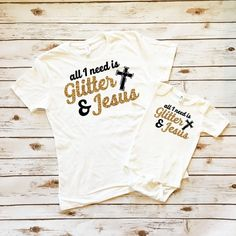 Glitter & Jesus Mommy and Me Shirt Set - Women's Shirts - Cassidy's Closet