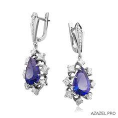 Серьги с Танзанитом Earrings with Tanzanite #earrings #moscow #алмаз #москва #танзанит #красота #бриллиант #мода #любовь #fashion #серьги #дизайн #jewelry #flowers #photography #photographer #gemstone #exclusive #handmade #эксклюзив #подарок #ювелир #almaz #фото #diamond #сувенир #галерея #tanzanite #love Small Earrings, Drop Earrings, Jewel Box, Minerals, Jewerly, Sapphire, Stones, Gems, Women's Fashion