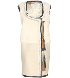 mytheresa.com - Shearling and leather gilet - Chloé - Designers - Luxury Fashion for Women / Designer clothing, shoes, bags