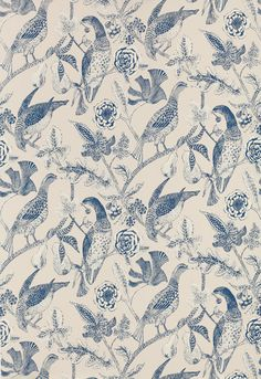 Wallcovering / Wallpaper | Katmandu in Navy | Schumacher