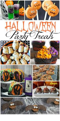 Dishes Party: Halloween Party Treats Check out this awesome round up of Halloween party treats that will be a hit at your spooky party!Check out this awesome round up of Halloween party treats that will be a hit at your spooky party! Halloween Dishes, Halloween Party Treats, Happy Halloween, Halloween Decorations, Halloween Desserts, Halloween 2020, Gross Halloween Foods, Halloween Meals, Halloween Cocktails