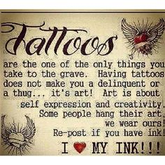 I love my tattoos #tattoo #quotes