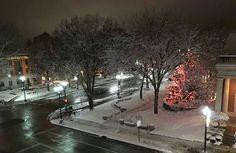 Downtown Lancaster on a winter's night.  Photo by David Sheffler