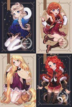 Royal Mix : Elsa, Anna , Raiponce, Mérida
