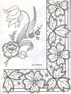 A adapter au pergamano Cutwork Embroidery, Floral Embroidery Patterns, Lace Patterns, Hand Embroidery Designs, Vintage Embroidery, Embroidery Stitches, Machine Embroidery, Quilt Patterns, Lace Painting