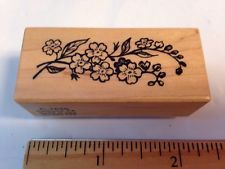 PSX C1656 Small Flower Vine Branch Oleander? Black Eyed Susan? Rubber Stamp RARE