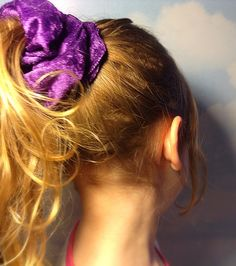 Purple Velour Hair Scrunchie For Girls and by JuliansBoutique, $5.99