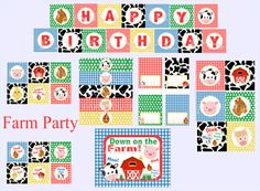 Digital Farm Party Package, Farm Party Decoration, Farm Birthday Party, Barnyard Bash, PDF Printable INSTANT DOWNLOAD on Etsy, $28.00