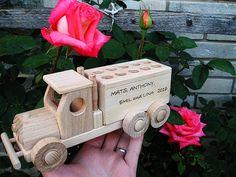 Stěhovací auto, dřevěné hračky s textem na přání. SKLADEM eshop www.soly.cz