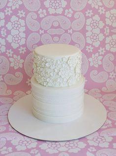 "Baptism cake in ""First Communion"" — Photo 2 of 3 Confirmation Cakes, Baptism Cakes, Communion Cakes, First Communion, Fancy Cakes, Cute Cakes, White Fondant Cake, Fondant Cakes, Religious Cakes"