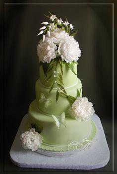 wedding cake with peonies  -- Svetlana http://сладкая-сказка.рф