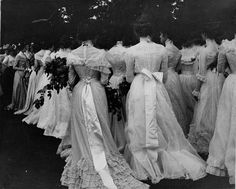 The most breathtaking collection of Edwardian dresses I have ever seen in one photograph!