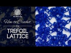 How to Crochet the Trefoil Lattice Stitch. This video crochet tutorial will help you learn how to crochet the trefoil lattice stitch. For photos and written pattern instructions for this stitch, please visit: . Get new tutorials Crochet Stitches Patterns, Knitting Stitches, Stitch Patterns, Knitting Patterns, Crochet Shawl, Free Crochet, Knit Crochet, Crochet Diagram, Things To Make With Yarn