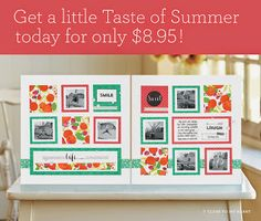 #CTMH #TasteOfSummer #PaperPack #Scrapbooking #May'sSpecial $8.95 This paper pack is available only for the month of May 2015. It can be found on my website!