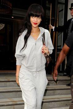 Rihanna Adds Blunt Bangs To Her Black Locks 2