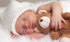 a cute baby sleping