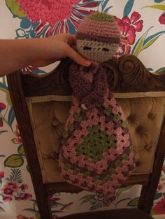 Baby Comforter  My most recent creation......it is a shame my little brother is a boy :(  #baby #crochet #blanket #crafts #crochet #doll