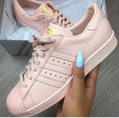 reputable site b7851 de23d adidas superstars adidas adidas shoes light pink baby pink pink trainers  superstar pastel gold blush pink help find this peach light pink adidas  sneakers ...