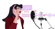 How To Improve Your Podcasting Voice Vector Art, Invite, The Voice, Improve Yourself, Software, Aurora Sleeping Beauty, Content, Create, Amazing